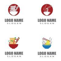 Nudeln Logo Vorlage Vektor Symbol Design