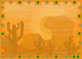 Landschaft mexikanische Wüste 4 im Rahmen
