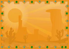 Landschaft mexikanische Wüste im Rahmen