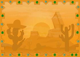 Landschaft der mexikanischen Wüste im Rahmen
