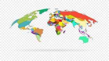 vektor världskarta isolerade.