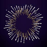 abstraktes Feuerwerk auf dunklem Hintergrund. Vektorillustration vektor