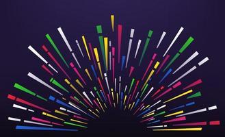abstrakte Farbe Feuerwerk auf dunklem Hintergrund. Vektorrahmen für einen Text vektor