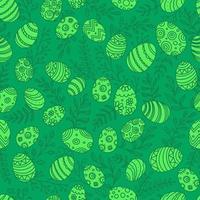 påskägg i doodle stil sömlösa mönster vektor