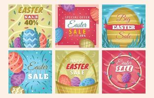 Ostern Verkauf Vorlage Design für Social Media Post vektor