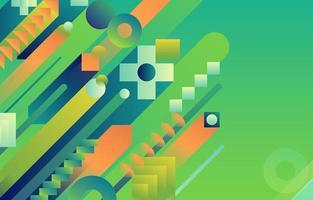 geometrischer Hintergrund des gelben Kalks des grünen Gefälles vektor