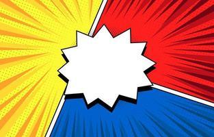 Comic-Halbton-Hintergrundvorlage vektor