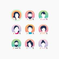 medlemsavatarer på sociala medier app. online-kommunikation. ljudchatt med röstmeddelanden.