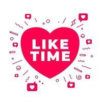 wie Zeitsymbol für Social Media und Bloggen. vektor