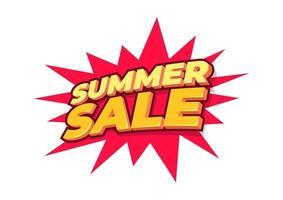 sommaren försäljning design layout för banner, reklam, kort, affisch. vektor