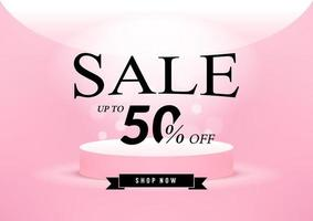 rosa försäljning banner mall design. vektor