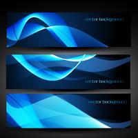 Vektor blaue abstrakte Banner Set 1