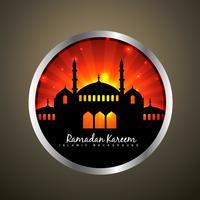 Ramadan Kareem Label vektor