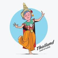 thailändsk traditionell dans vektor