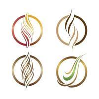 Haarlogo und Symbolvektorsymbolsatz