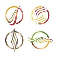 hårlogotyp och symbolvektorsymbolsuppsättning