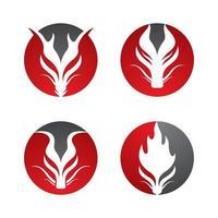 Drachenkopf Logo Bilder gesetzt vektor