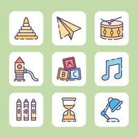 Spielen und Lernen für Kinder vektor