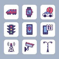 Smart City von Gadgets unterstützt vektor