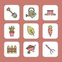 Spaß Öko-Gartenarbeit vektor