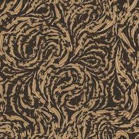 sömlös vektormönster av släta beige flytande linjer med sönderrivna kanter. textur av trä eller marmorfibrer.