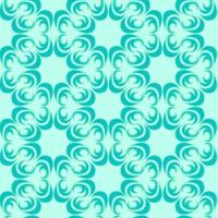 sömlös vektormönster av blommiga och abstrakta element av turkosfärg av en rund form på en havsbakgrund.