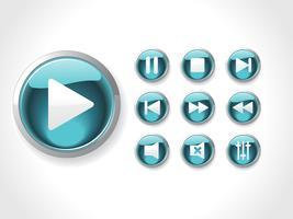 Ikoner ställa in media vektor