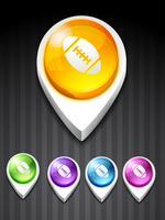 vektor rugby spel ikon