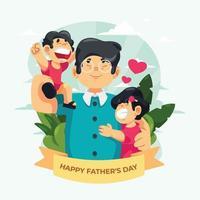 lycklig fars dag hälsning vektor