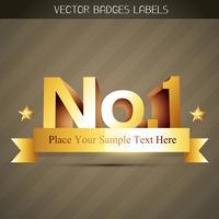 Golden Label-Vektor vektor