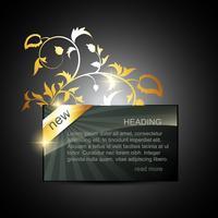 goldene Displaybox vektor