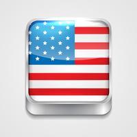 Flagge des Vereinigten Staates vektor