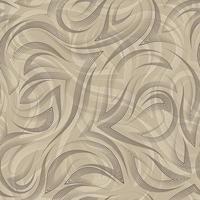 geometrisches nahtloses Muster des braunen glatten Linien- und Eckenvektors auf beigem Hintergrund. anmutiges fließendes Muster und Streifen