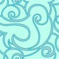 sömlös vektor turkos mönster av spiraler och vågor. textur för textil och förpackning.
