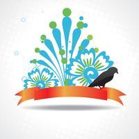 Vektorschattenbild des Vogels mit schöner Grafik