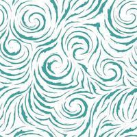 nahtloses vektorblaues Muster von glatten Linien mit gerissenen Kanten in Form von Ecken und Spiralen. Leichte Textur zum Veredeln von Stoffen oder Geschenkpapier in Pastellfarben.