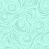 nahtloses Vektor-Türkis-Muster von glatten Linien mit gerissenen Kanten in Form von Kreisen und Spiralen. Textur zum Veredeln von Stoffen oder Geschenkpapier in Pastellfarben auf einem Meereshintergrund. Ozean und Wellen.