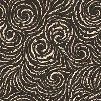 sömlös vektormönster av sönderrivna linjer i form av cirklar och spiraler. beige konsistens för dekoration av tyger eller omslagspapper vektor