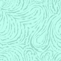 sömlös turkos vektormönster med släta och brutna linjer i form av öglor och bågar. blå konsistens för dekoration av tyger eller omslagspapper. vektor