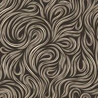 nahtlose beige Vektor-Textur für die Dekoration von Stoffen oder Papier aus Schnittlinien, die sich in Form von Schleifen und Spiralen auf einem dunklen Hintergrund drehen. vektor