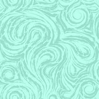 abstrakte türkisfarbene Vektortextur aus glatten Spiralen und Schleifen. Faser aus Holz oder Marmor verdrehtes Muster. Wellen oder Wellen. vektor