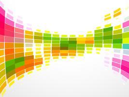 färgglad mosaikvåg vektor
