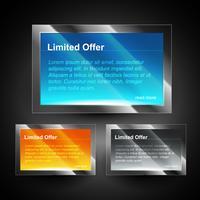 glänzende Displaybox vektor