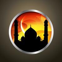 Ramadan Kareem Abzeichen vektor