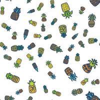 Ananas nahtloses Muster vektor
