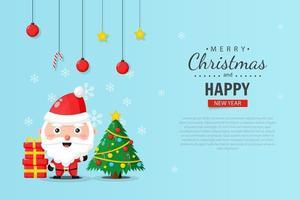 Frohe Weihnachten Banner Design-Vorlage vektor