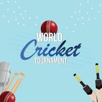 Live-Cricket-Meisterschaft Hintergrund mit kreativer Illustration vektor