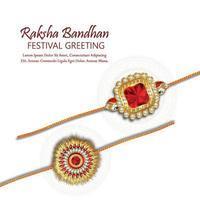 glücklicher raksha bandhan indischer Festivalhintergrund mit kreativem Kristall-Rakhi und Geschenken vektor