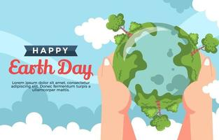 ge ut en hand för att rädda jorden vektor