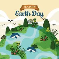 Beschütze den schönen Planeten, auf dem wir leben vektor